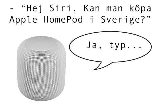 Köpa Apple HomePod (i Sverige) – det här gäller